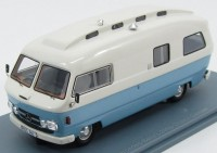 1:43 MERCEDES-BENZ L206D Orion II Camper (кемпер) 1974 White/Light Blue