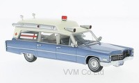 1:43 CADILLAC S&S High Top Ambulance (скорая медицинская помощь) 1966 Metallic Blue/White