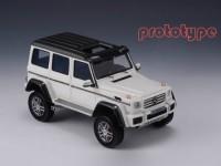 1:43 MERCEDES-BENZ G500 4x4² (W463) 2015 Metallic White