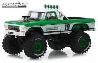 """1:43 FORD F-250 Monster Truck Bigfoot #19 """"GreenLight Racing Team"""" 1974"""