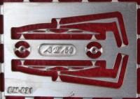 1:43 набор фототравления дворники КРАЗ 260 матовый никель