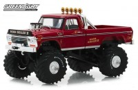 """1:43 FORD F-250 Monster Truck Bigfoot """"High Roller"""" 1979 Red"""