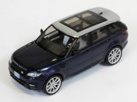 1:43 RANGE ROVER SPORT 2014 Blue w/ Silver Roof