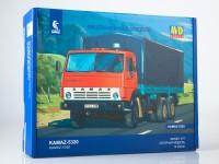 1:43 Сборная модель КАМский грузовик-5320 бортовой с тентом