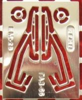 1:43 фототравление дворники для Горький-66 никель