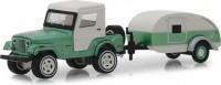 1:64 JEEP CJ-5 4х4 Half-Cab с кемпером Teardrop 1972