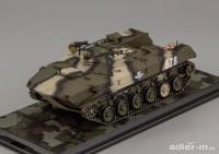 1:43 Бронетранспортёр десантный БТР-Д с легким вооружением ВДВ (камуфлированный)