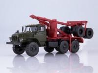 1:43 Миасский грузовик 43204-10 лесовоз с прицепом-роспуском