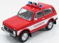 """1:18 LADA NIVA 1600 4X4 """"FEUERWEHR"""" (пожарный) 1985 Red/White"""