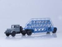 1:43 МАЗ-200В с полуприцепом НАМИ-790, (серый/голубой)