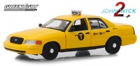 "1:43 FORD Crown Victoria ""NYC Taxi"" (такси Нью-Йорка) 2008 (из к/ф ""Джон Уик II"")"