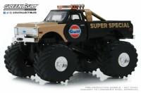 "1:43 CHEVROLET K-10 Monster Truck Bigfoot ""Gulf Oil"" Super Special 1971 (колеса 66 дюймов)"
