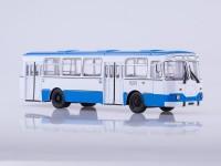 1:43 Ликинский автобус 677М городской (бело-голубой)