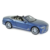 1:18 BENTLEY New Continental GTC Convertible 2019 Blue Crystal