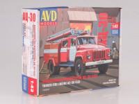 1:43 Сборная модель Пожарная автоцистерна АЦ-30(53)-106А