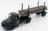 1:43 WILLEME LD610 Fardier Wood Transporter (лесовоз) 1956 Dark Green/Black