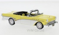 1:43 BUICK Roadmaster Convertible 1957 Light Yellow/White