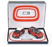 1:43 набор из 2 моделей CITROEN C3 & C3 Aircross (кроссовер) 2017 Red