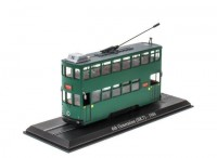 1:87 трамвай 6th Generation (HKT) Hong Kong Tram 1986 Green