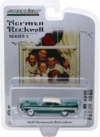 1:64 PLYMOUTH Belvedere with Wreath Accessory 1957 Green