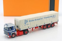 "1:43 SCANIA LBT 141 с полуприцепом ""Wolter Koops"" 1976 Blue/Red"