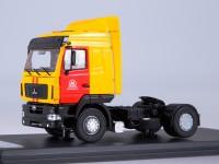 1:43 МАЗ-5440 седельный тягач Мосметро, желтый / красный