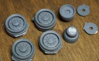 1:43 Набор ранних дисков для МАЗ-502