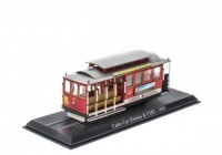 1:87 трамвай Cable Car (Ferries & Cliff) San Francisco Tram 1888 Red