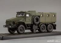 """1:43 Миасский грузовик """"ВВ"""" 6х6, бронированный автомобиль (в боксе) (хаки)"""