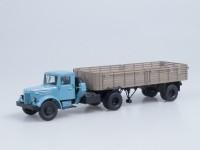 1:43 МАЗ-200В с полуприцепом МАЗ-5215 (голубой/коричневый)