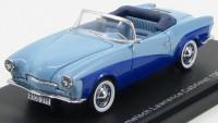 1:43 Volkswagen Rometsch Lawrence Cabriolet 1957 (специальное издание) (light blue/dark blue)