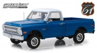1:18 CHEVROLET C-10 with Lift Kit пикап 1970 Dark Blue Poly