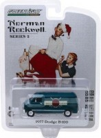 "1:64 DODGE B-100 Van ""Percy's Threads"" фургон 1977 Nordic Dark Blue"