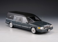 1:43 LINCOLN Towncar S&S Hearse (катафалк) 1997 Metallic Grey