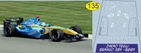 1:43 набор декалей Formula 1 №17 Renault R24 Ярно Трулли