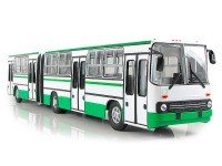 1:43 Ikarus-280.64 планетарные двери (Москва) бело-зеленый
