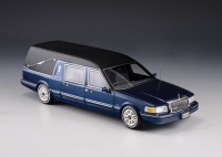 1:43 LINCOLN Towncar S&S Hearse (катафалк) 1997 Metallic Blue