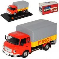 1:43 BARKAS B1000 ''Minol'' грузовик с тентом 1974 Red/Yellow