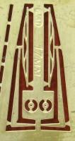 1:43 Фототравление дворники 17мм латунь