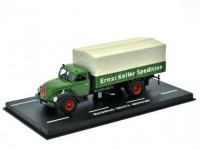 "1:72 MAGIRUS DEUTZ Mercur S3500 ""Ernst Keller Spedition"" (бортовой грузовик с тентом) 1952 Green"