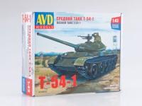 1:43 Сборная модель Средний танк T-54-1