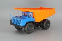 1:43 БелАЗ-7525 самосвал-углевоз, синий / оранжевый