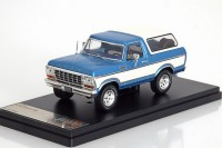 1:43 FORD Bronco 4x4 1978 Metallic Blue/White