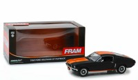 1:24 FORD Mustang GT Fastback FRAM Oil Filters 1968 Black with Orange