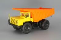 1:43 БелАЗ-7525 самосвал-углевоз, желтый / оранжевый