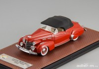 1:43 CADILLAC Series 62 Victoria Convertible (закрытый) 1940 Red