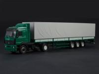 1:43 МАЗ-5440 с полуприцепом МАЗ-9758, зеленый / серый