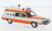 1:43 CADILLAC Superior Ambulance (скорая медицинская помощь) 1977 White/Orange
