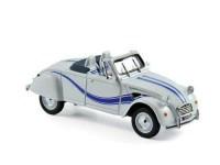 1:43 CITROEN 2CV Cabriolet Azelle 1990 White & Blue Deco