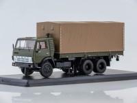 1:43 КАМАЗ-53212 бортовой (с тентом),хаки